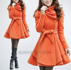 4 colors womens Princess style cape dress Coat jacket with belt Apring autumn winter coat jacket cute coat dy43 M-XXL on Etsy, $88.99