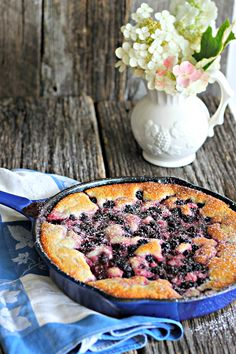 One Cup Blackberry Cobbler is even better with  just a dash of buttermilk in the batter. Buttery, fruity goodness and it only takes (about) a cup of each ingredient! | The Country Contessa #cobbler #blackberry #dessert