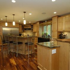 American Walnut Flooring With Maple Bord Design Ideas, Pictures, Remodel, and Decor - love the varying tones in the floor