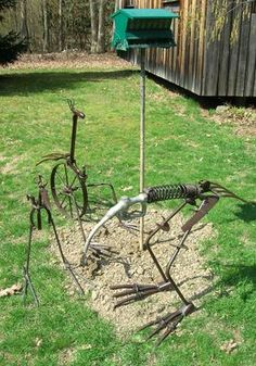 Metal Maniac: Rick Radman Crafts Unique Sculptures from Scrap Metal, Old Tools and More - A! Magazine for the Arts
