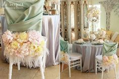 "Great Gatsby Wedding Reception | 1920's Vintage ""Great Gatsby"" Wedding Reception Chair Covers Feathers ..."