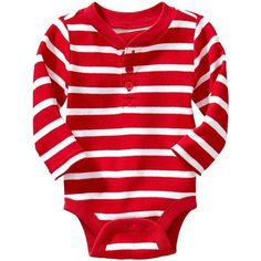 Old Navy Waffle Knit Henley Bodysuits For Baby Size 12-18 M - Red... ($7) ❤ liked on Polyvore featuring baby and kids