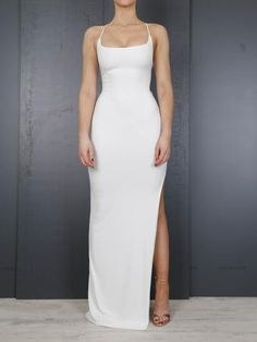 The 'Riviera' is a scoop neck bodycon maxi dress. Featuring an adjustable, lace up back design. Grad Dresses, Casual Dresses, Fashion Dresses, Dance Dresses, Long Dresses, Formal Dresses, Maxi Dresses, Dress Long, Prom Dress