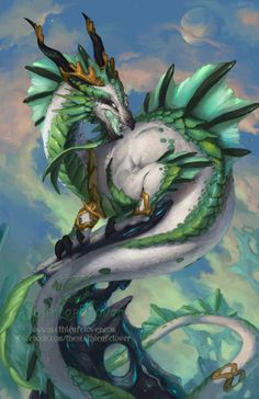 Dragon Art by Sixthleafclover-Capricorn 2014More