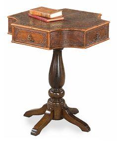 This Stuttgart Leather Octagonal Table by Sarreid Ltd. is perfect! #zulilyfinds