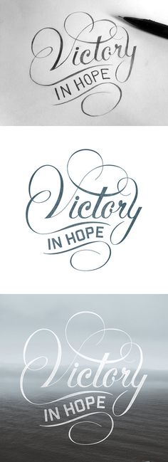 Victory_in_hope_dribbble_detail in Handlettering