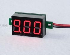 1pc 0.36inch LCD Digital Voltmeter Red LED Amp Digital Gauge Voltage Meter DC4.5-30V Voltage Indicator two wires 33*15*10mm