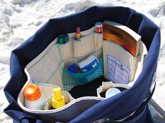 Beach bag insert . . . this company also makes 3 other great beach totes, but I bet it's not that difficult to make