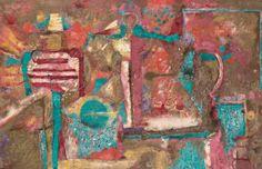Rufino Tamayo, oil on canvas, Tres Figuras