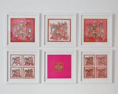 Framed Hermes scarves