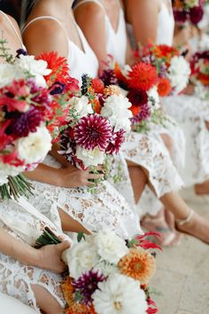 Wedding bouquets inspiration - bridal flowers - bright and colourful. Sydney wedding photography by Girl in the White Dress Sydney Wedding, French Photographers, Bridal Flowers, Wedding Bouquets, Floral Wreath, White Dress, Wedding Photography, Bright, Table Decorations