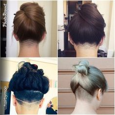 undercuts in the back for girls - Google Search