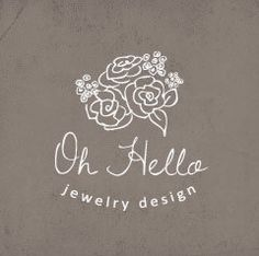 Floral Logo Design. Premade. Flowers. Bouquet. Hand Drawn Unique Vector Logo. OOAK Logo. $100.00, via Etsy.