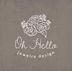 Floral Logo Design. Premade. Flowers. Bouquet. Hand Drawn Unique Vector Logo. */*