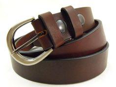 Sunset brown, Harness, American made dress-casual belt