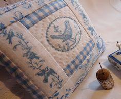 Steekjes & Kruisjes van Marijke: Patchwork  pillow