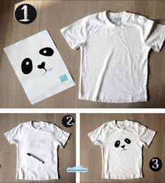 Diy panda shirt for your upcoming panda party! Panda Party, Panda Birthday Party, Kung Fu Panda, Panda Love, Cute Panda, Theme Bapteme, Panda Craft, Panda Costumes, Panda Costume Diy