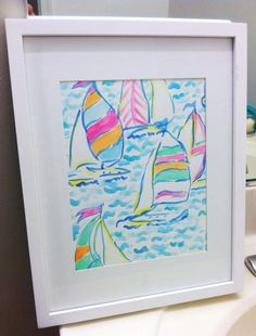 Lilly Pulitzer You Gotta Regatta inspired watercolor by SREdesign