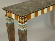 Sofa Table-Carved Legs: Shown in Caramel-Custom-Made-To-Order by SuzanneFitchGallery on Etsy