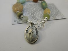 St. Paul Beaded Bracelet with  Toggle Clasp by saintbellofcolorado, $20.00