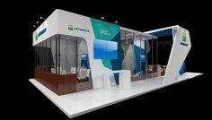 Petrobras Internacional on Behance Exhibition Stall Design, Exhibit Design, Stand Feria, Block Design, Bar Chart, Display, Exhibitions, Inspiration, Mall