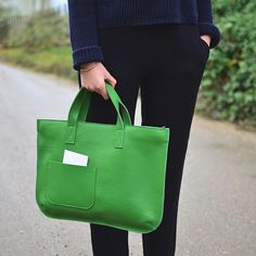 Let's add some green to Wednesday. Keecie Elephant Joke Bag, Green leather bag