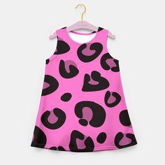 Girls fashion dress : pink and black Safari animal