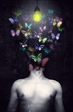 Surreal Art Butterfly scary trippy picture by luvwilgetudwn69 - Photobucket