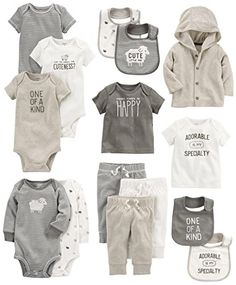 Carter's Baby 15-Piece Basic Gift Set, Sheep, Newborn. For product info go to: https://all4babies.co.business/carters-baby-15-piece-basic-gift-set-sheep-newborn/