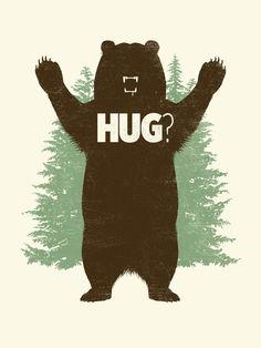 Matthew Parsons -Bear Hug? Art Print