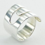 Plain 925 Silver Designer Ring