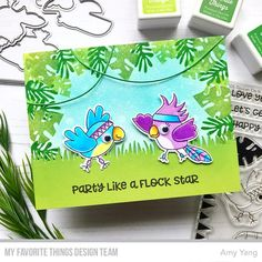 Handmade card from Amy Yang featuring Toucan Do It from My Favorite Things #mftstamps