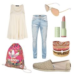 OneOutfitPerDay 2016-05-06 - #ootd #outfit #fashion #oneoutfitperday #fashionblogger #fashionbloggerde #frauenoutfit #herbstoutfit - Frauen Outfit Frühlings Outfit Outfit des Tages Sommer Outfit Adidas Originals Armband Bag Espadrillas Gymbag HIPANEMA Jeans Nudie Jeans Pixi Ray Ban Sack Slipper Toms Top Vila