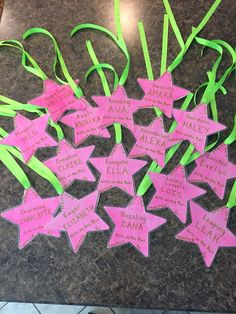 Our Spring 2015 Girls on the Run practice 5k medals