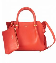 Nina Ricci Le Marché Small Leather And Suede Tote Red Bag Michael Kors