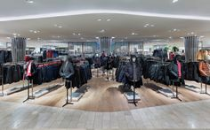 Breuninger Flagship Store by HMKM, Düsseldorf   Germany department store Floor Material change + pattern partitions