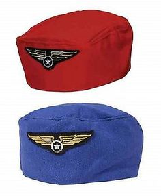 Red / navy blue #flight #attendant air hostess stewardess #fancy dress hat,  View more on the LINK: http://www.zeppy.io/product/gb/2/260919769868/