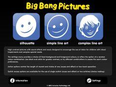 Big bang pictures er en dejlig app med overskuelige symboler. En app der motiverer til den første begyndende årsag virkning arbejde med kontakten