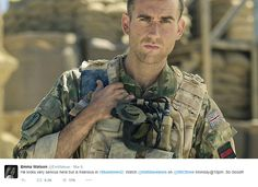 Looking rugged in a soldier costume, it seems the world still can't get over Matthew Lewis' hot transformation