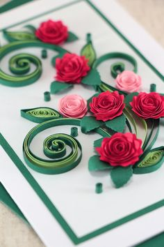 128 best quilled roses images on pinterest quilling quilled roses mom birthday card handmade quilling greeting card mum bday card to her handmade paper quilling with red quilled roses mightylinksfo