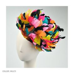 Giovannio by Emma B Feathers Fascinator Hat (Multi)