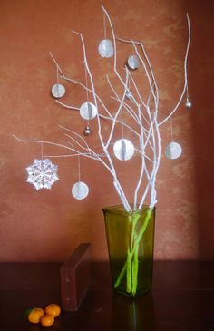 DIY Christmas decor @ Tvoy Designer Blog #christmas #decor #newyear #decoration #treebranches