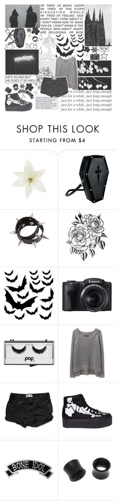 """// Your eyes are swallowing me Mirrors start to whisper Shadows start to see My skin's smothering me Help me find a way to breathe \\"" by monstergirlxjpg ❤ liked on Polyvore featuring Clips, Old Navy, Pop Beauty, rag & bone/JEAN, Levi's, Jeffrey Campbell, Kreepsville 666 and NOVICA"