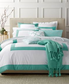 Colorblock Teal Bedding Collection