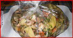 ИНГРЕДИЕНТЫ 1 кг картофеля; 400 грамм грибов; 1 крупная морковь; 3-4 зубка чеснока; свежий или сушенный укроп. СПОСОБ ПРИГОТОВЛЕНИЯ Картофель очистить и порезать небольшими скибочками. Грибы промыть, почистить, если требуется, и порезать на две или четыре части. Морковь порезать колечками, на терке лучше не тереть. Чеснок измельчить не слишком мелко, укроп порезать. Все ингредиенты сложить …