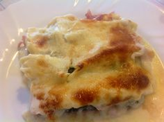 Lasagne con zucchine grigliate, cotto e scamorsa affumicata