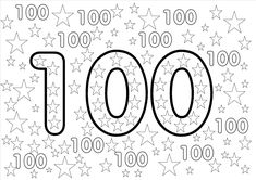 100s Day, Counting To 100, 100 Day Celebration, Birthday Coloring Pages, Learn To Count, Bright Paintings, Holiday Themes, 100 Days Of School, Teaching Math