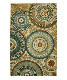 The Mohawk Home Forest Suzani Rug adds some contemporary color to a classic design. It pairs blue and brown, accented with a vibrant teal shade. Teal Rug, Blue Rugs, Mohawk Home, Mohawk Rugs, Mohawk Flooring, My Living Room, Blue And Brown Living Room, Throw Rugs, Rug Size