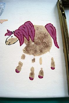 Handabdruck Pferd