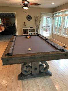 Dining Top Pool Table Rustic Farmhouse